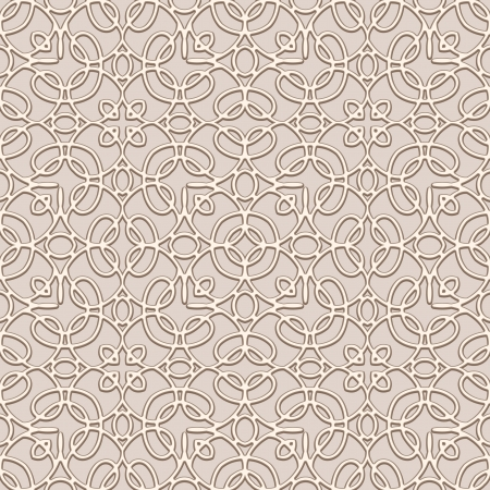 Ornamental lace background, seamless pattern Vector