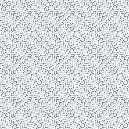crochet: Grey lace background, seamless pattern Illustration