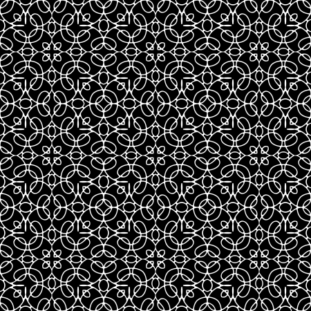 Lace monochrome seamless pattern Vector
