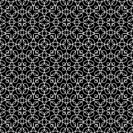 guipure: Lace monochrome seamless pattern Illustration