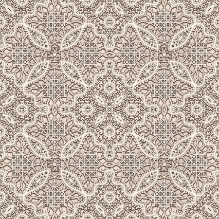 Old lace texture, seamless pattern, vintage lacework background Vector
