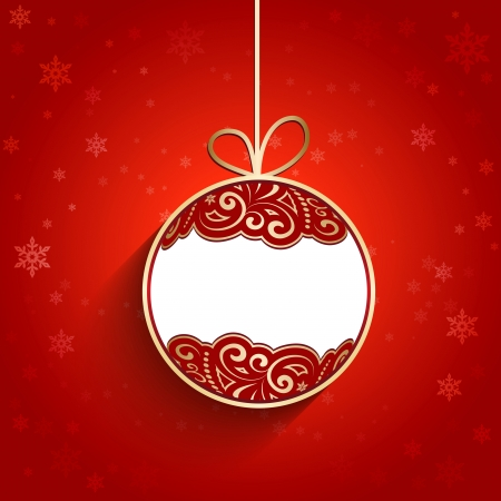 Ornamental Christmas ball, decorative background Vector