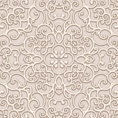 guipure: Ornamental lace background, seamless pattern