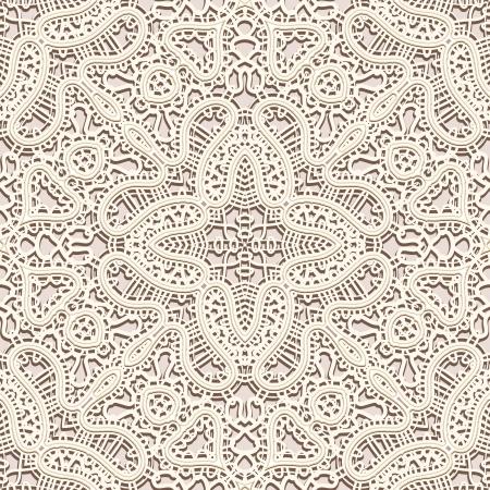 tulle: Old lace background, vintage seamless pattern Illustration