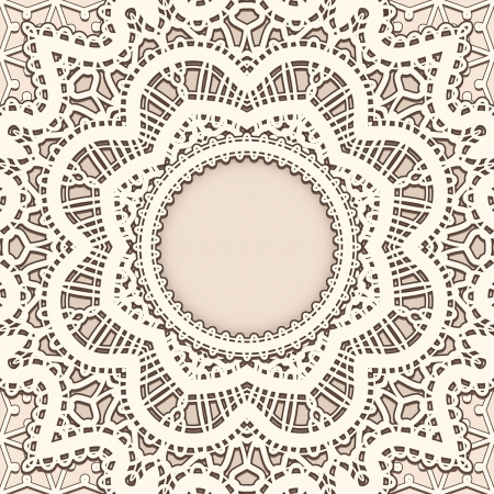 tatting: Old lace background, vintage frame template