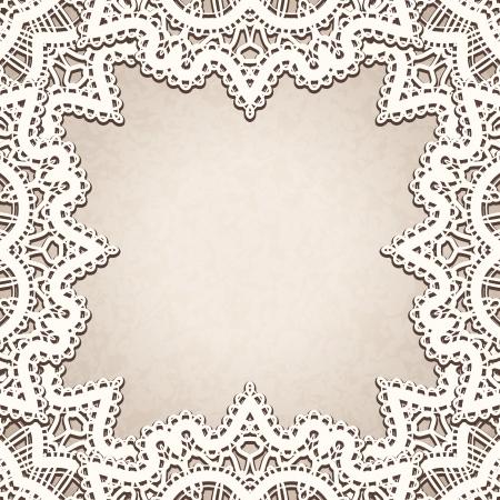 tatting: Old lace background, vintage decorative frame