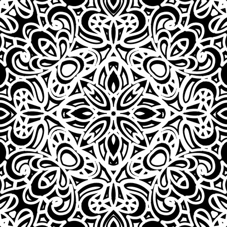 Vintage black and white seamless pattern Vector