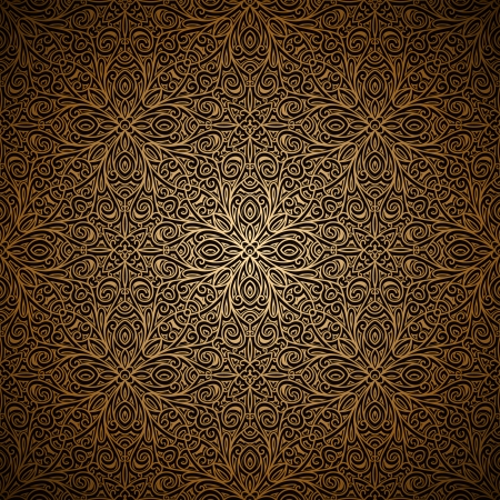Vintage gold seamless pattern, ornamental background