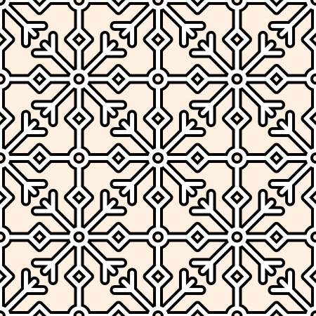 Abstract geometric ornament, seamless pattern Vector