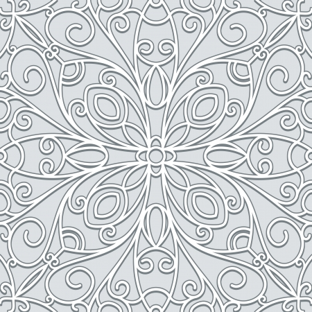 lattice: Abstract grey background, seamless lace pattern Illustration