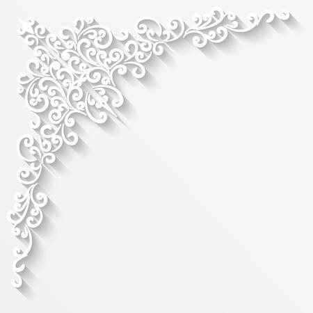 紙の角飾りと抽象的な背景  イラスト・ベクター素材