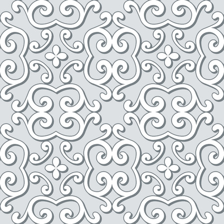 guipure: Ornamental grey, seamless pattern in neutral color