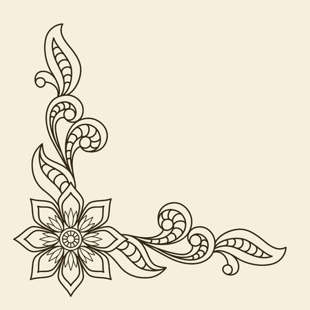 Vintage background with floral corner ornament Vector