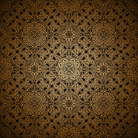 Vintage gold seamless pattern, ornamental background Vector