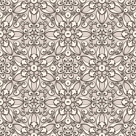 Old lace background, vintage seamless pattern Vector