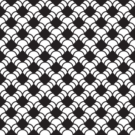 Abstract black and white geometric seamless pattern Vector