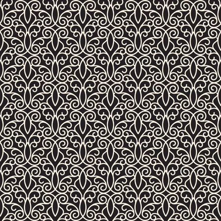 Abstract swirly seamless pattern, elegant lace ornament Vector