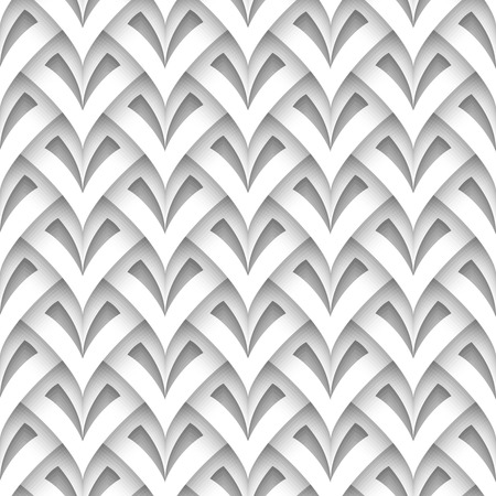 Cutout paper texture, abstract scaly geometric background, seamless pattern Illustration