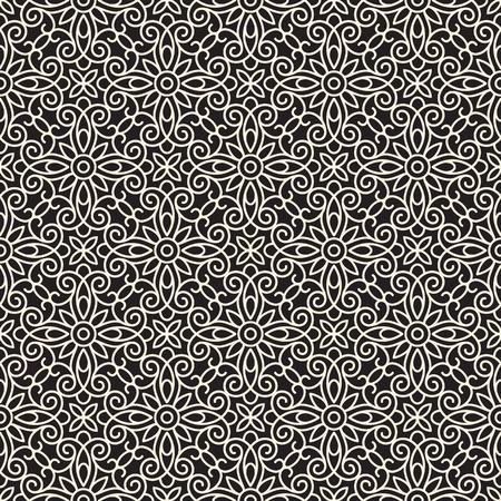 Seamless lace pattern, abstract swirly ornament Illustration