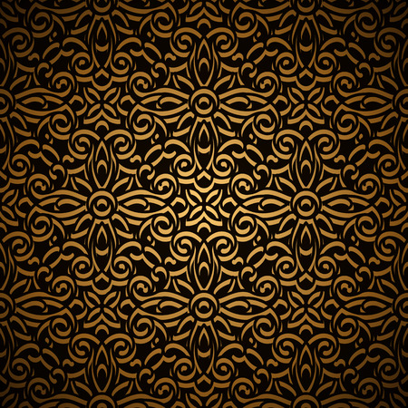 Vintage gold seamless pattern, ornamental background Vector