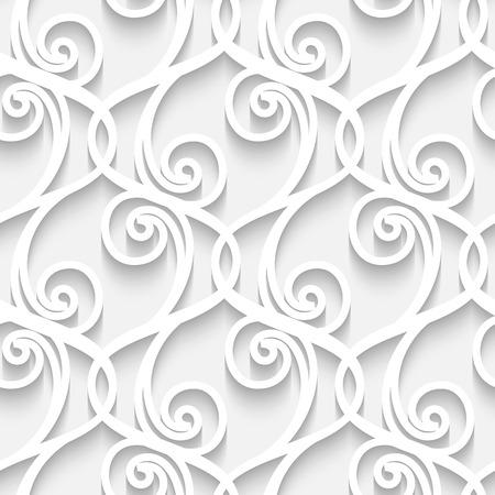 Abstracte witte papier kant textuur, naadloos patroon