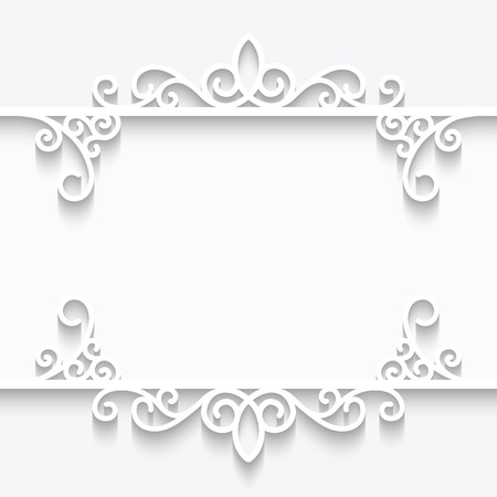 Abstract background with paper dividers, ornamental frame