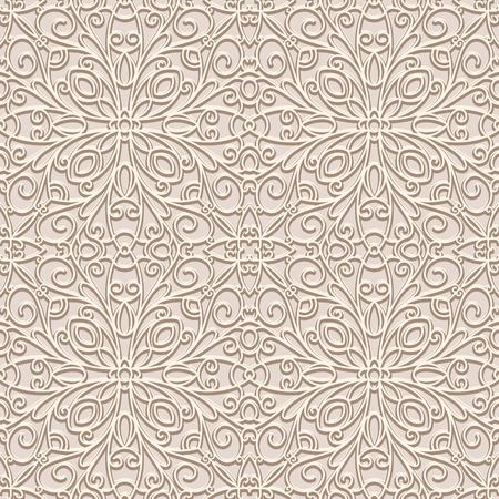 tulle: Vintage seamless pattern, swirly ornamental background