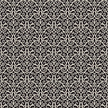 Abstract seamless pattern, swirly lace texture Vector