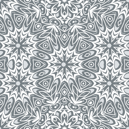 frosted: Grey seamless pattern, frosted glass, abstract floral ornament