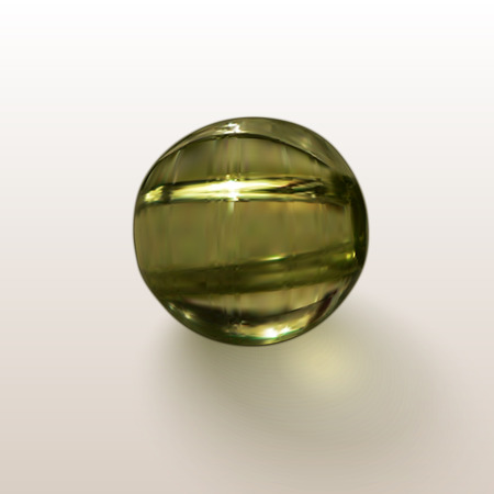 peridot: Glass ball, green round bead with shadow