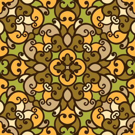 vitrage: Abstract mosaic ornament, seamless pattern