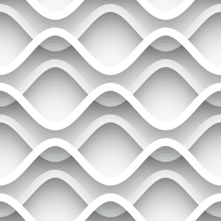 cut line: Abstract wavy lines, cutout paper background, seamless pattern