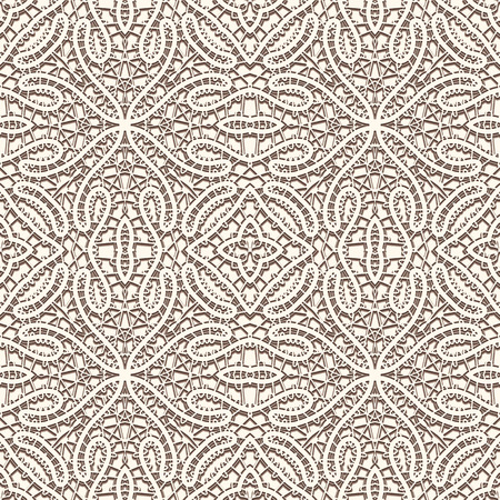 tatting: Vintage lacy ornament, handmade tatting lace texture, seamless pattern