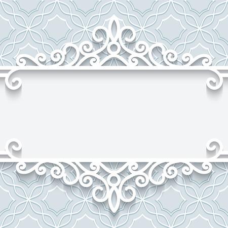 Abstract background with paper divider, header, ornamental frame Ilustração