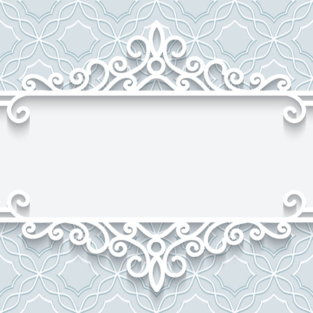 Abstract background with paper divider, header, ornamental frame Illustration