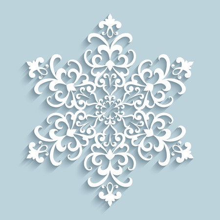 doily: Paper snowflake, lace doily, winter decoration Illustration
