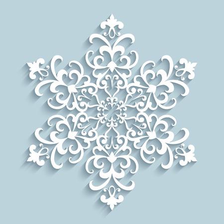 Papierschneeflocke, Spitzendeckchen, Winter Dekoration