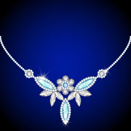 Elegant jewelry necklace, jewellery diamond decoration