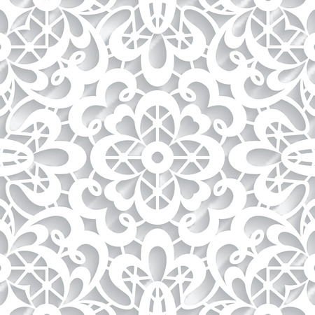 Abstract paper lace texture, seamless pattern Vector