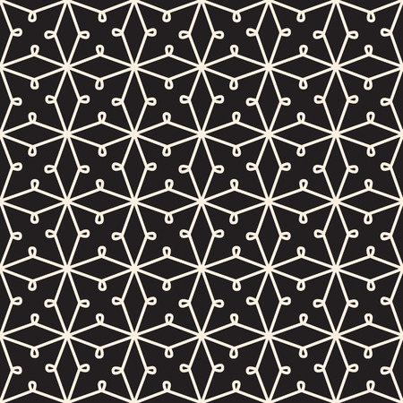Abstract seamless pattern, black and white  lace texture Vector