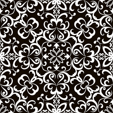 swirly: Black and white swirly ornament, seamless pattern