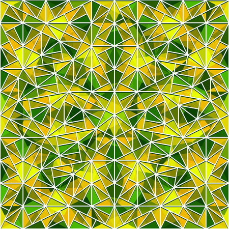 vitrage: Abstract mosaic ornament, seamless geometric pattern