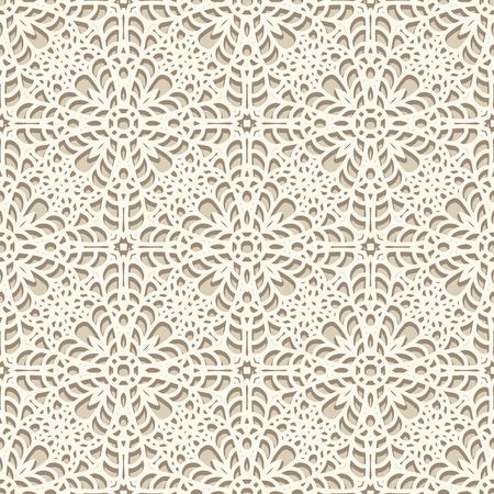 シームレスなレース柄ニットやかぎ針編みの手作りのレース背景テクスチャ  イラスト・ベクター素材
