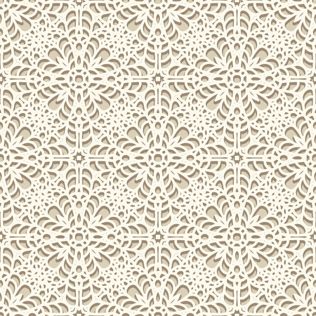 seamless damask: Seamless lace pattern, knitted or crochet texture, handmade lacy background