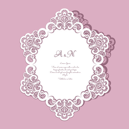 lace doily: Paper lace doily, greeting card, save the date or wedding invitation template
