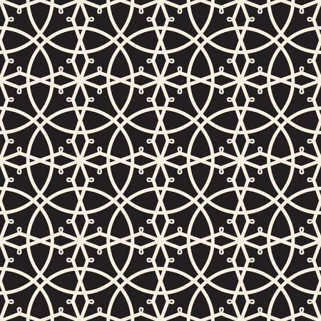 Seamless lace pattern, lacy grid, black and white lacework ornament Vector