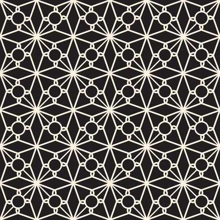Black and white seamless pattern, elegant lace texture Vector