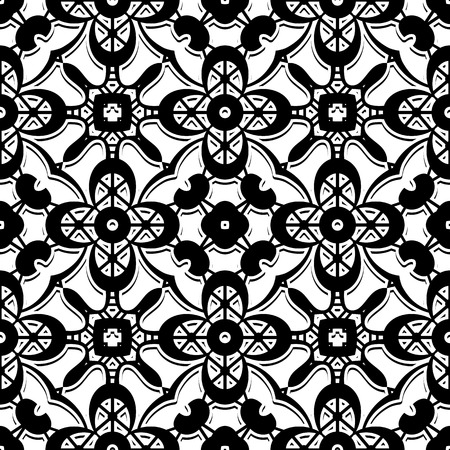 lacework: Black and white background, lace texture, seamless pattern