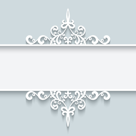 Abstract background with paper divider header ornamental frame