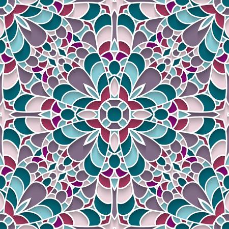 ceramic: Resumen de antecedentes de mosaico, azulejos de cer�mica, may�lica, modelo incons�til Vectores